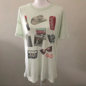 🌈 3/$25 Wildfox graphic tee t shirt oversize Sz S